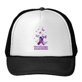 Purple Awareness Ribbon: Fibromyalgia Cap