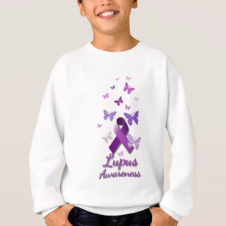 Purple Awareness Ribbon: Lupus Sweatshirt