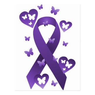 Purple Awareness Ribbon Postcard