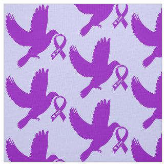 Purple Awareness Ribbon with Dove of Hope Fabric