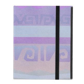 Purple Aztec Pattern iPad Cases