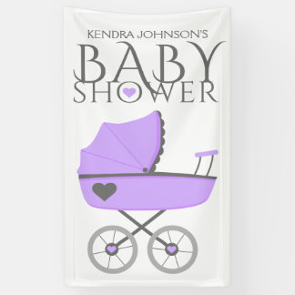 Purple Baby Carriage Baby Shower