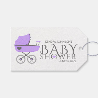 Purple Baby Carriage Girls Baby Shower