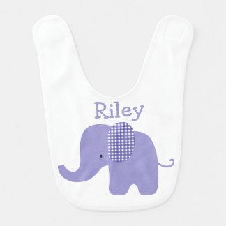 Purple Baby Elephant Bib