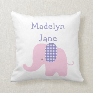 Purple Baby Elephant Personalized Pillows