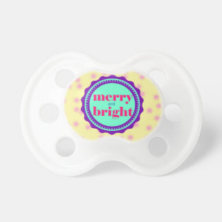 Purple Baby First Merry Bright Christmas Pacifier