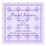 Purple Baby Shower Invitation