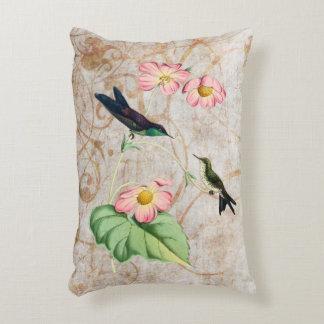 Purple Backed Thornbill Hummingbird Accent Pillow