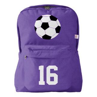 Purple Backpack: Soccer Backpack