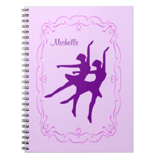 Purple Ballerina Dance Notebook