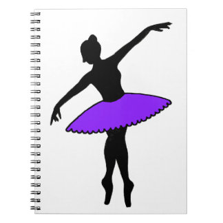 Purple Ballet Dancer Ballerina Dance Teacher Gift Note Book