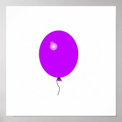 purple balloon poster