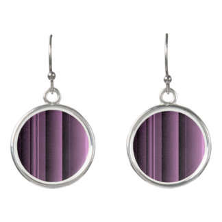 Purple Bamboo Sandstone Circular Drop Earrings