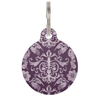 Purple Baroque Pet ID Tag