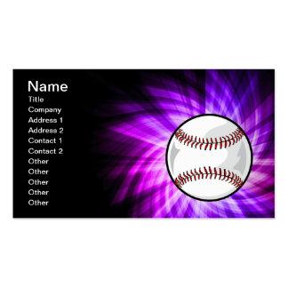 Purple Baseball; Softball Business Card Templates