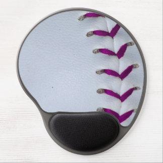 Purple Baseball / Softball Stitches Gel Mouse Pad