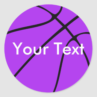 Purple Basketball Custom Team Name / Text Stickers