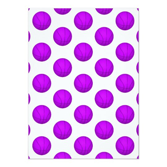 Purple Basketball Pattern Card