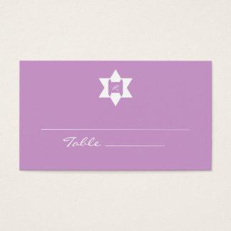 Purple Bat Mitzvah Place Cards