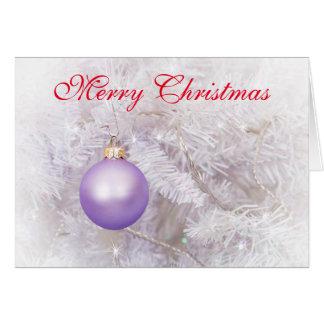Purple Bauble Christmas Card