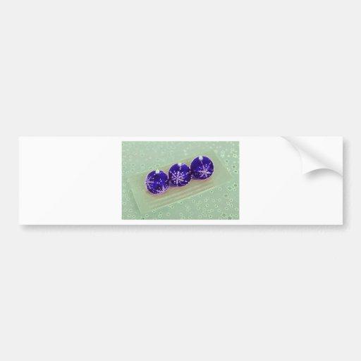 Purple Bauble Decorations Bumper Stickers