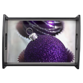 Purple Bauble Serving Tray