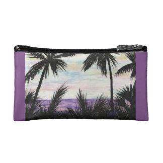 Purple Beach Landscape Makeup Bag