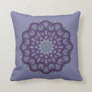 Purple Bead-work Flower Cushion