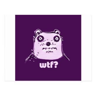 purple bear wtf postcard