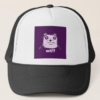 purple bear wtf trucker hat