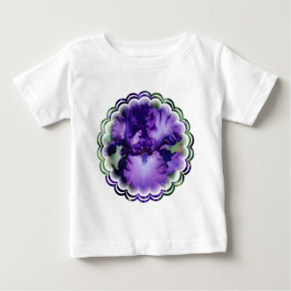Purple Bearded Iris Baby T-Shirt