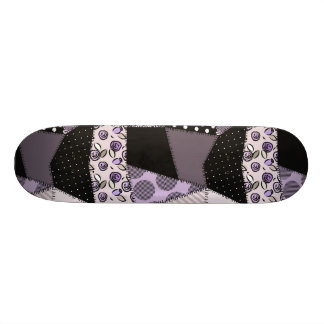 Purple Beautiful Country Patchwork Quilt Custom Skate Board