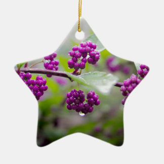 Purple Berries Ceramic Ornament