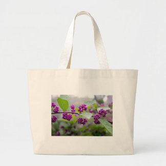 Purple Berries Large Tote Bag