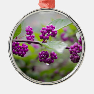 Purple Berries Metal Ornament