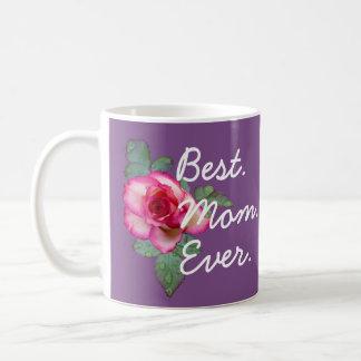 Purple Best Mom Ever Roses Mug - Gift for Mom