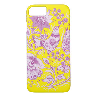 Purple Birds Hohloma iPhone 7 Case
