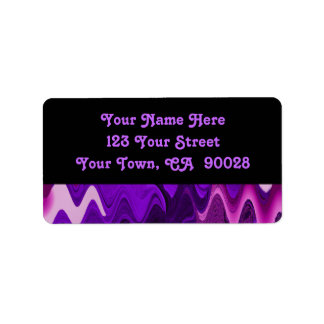 purple black abstract address label