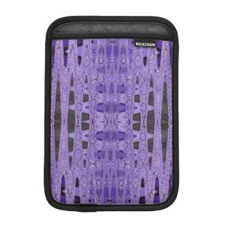 Purple black abstract pattern iPad mini sleeve
