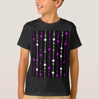 Purple, black and white pattern T-Shirt