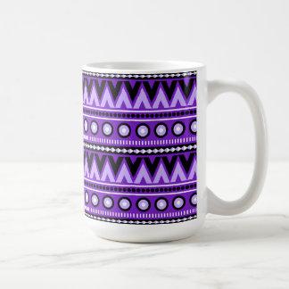Purple Black Aztec Modern Stylish Coffee Mug