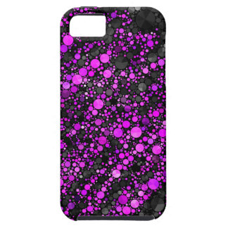 Purple Black Bling Pattern Case For The iPhone 5