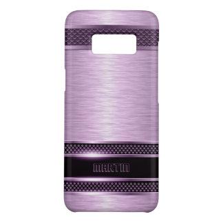 Purple & Black Brushed Aluminum Look Case-Mate Samsung Galaxy S8 Case