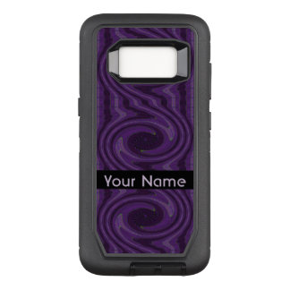 Purple Black Circular Swirl Abstract OtterBox Defender Samsung Galaxy S8 Case