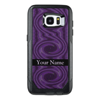 Purple Black Circular Swirl Abstract OtterBox Samsung Galaxy S7 Edge Case