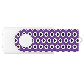 Purple & Black Dot, 8 GB, white USB Drive
