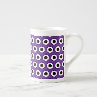 Purple & Black Dot Bone China Mug