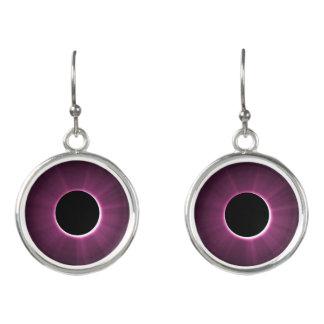 Purple Black Drop Earrings