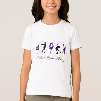 PURPLE & BLACK FIGURE SKATER IMAGES - Girls T-Shirt