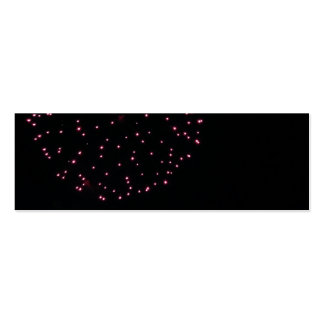 purple black fireworks bookmark mini business card